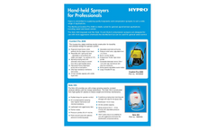 Pentair Hypro - Hand Held Sprayers Brochure