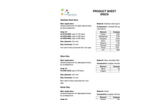 TrisKem - Stainless Steel Discs - Brochure