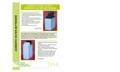 Compact High Output Domestic Water Softeners Datasheet