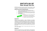 Model BWT/WTU 001/SF - Water Storage Tank Unit Datasheet