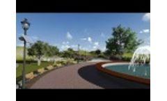 Solar Park Lighting Simulation | New Classica Fixture | Greenshine New Energy - Video