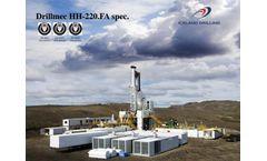 Odinn Drillmec - Model HH-220 - Automatic, Hydraulic Rotary Drilling Rig - Brochure