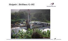 Sleipnir Drillmec - Model G-102 - Trailer Mounted Hydraulic Powered Topdrive Drilling Rig - Brochure