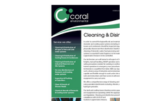 Clean & Disinfection Services Datasheet