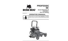 Bush Hog - Model TD1100, TD1500 & TD1700 - Tri-Deck Finishing Mowers- Brochure