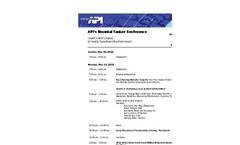 API Tanker Conference 2012 - Preliminary Program