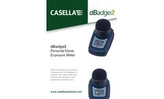 Casella - Model dBadge2 (Standard) - Personal Noise Dosimeter Kits Brochure