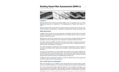 Building Hazard Risk Assessments (BHRA's)  Brochure