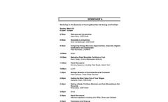 Workshop A Agenda
