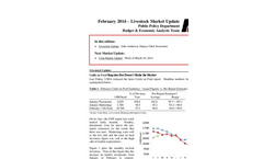 Economic Analysis - February 2014 Livestock Market Update Brochure