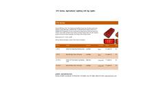 Model 275 Series - LED Rect Surface Mount Lamp Datasheet