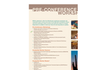 2008 AEC & Exhibition: Pre-Conference Workshops and Courses (PDF 105 KB)