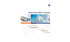 Dikma - New HPLC Columns-2012 Brochure