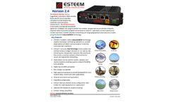 Horizon - Model 2.4 GHz, 150 Mbp - Industrial Wireless Ethernet & Serial Radios - Datasheet