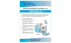 ASL-AQFlow - Model ASFM - Acoustic Scintillation Flow Monitor - Brochure