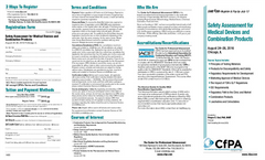 Safety Assessment for Medical Devices and Combination Products- Brochure