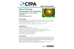Mixing Technology: Fundamentals and Applications Training Brochure