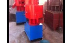 FD450 Wood Pellet Mill Working Video
