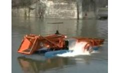 The AlphaBoats FX5 Series Aquatic Weed Harvester Video