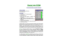 DataLink/CEM - Environmental Data Acquisition Software - Brochure