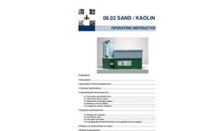 Eijkelkamp - Model 08.02 - Sand/Kaolinbox Box - Operating Instructions Manual