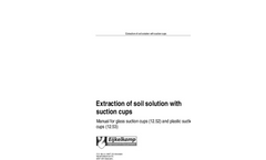 Eijkelkamp  - Extraction of Soil Solution With Suction Cups - Manual