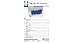 Model 08.66 - Surface Shear Test Apparatus - Operating Instructions Manual