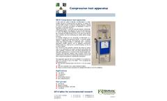 Eijkelkamp - Model 08.67 - Compression Test Apparatus Set - Brochure