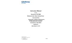 Aquaprobe – Model AP-7000 Multiparameter Water Quality Probe and Associated - Manual