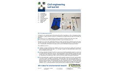 Eijkelkamp - Model 08.19 - Civil Engineering Soil Test Kit - Brochure