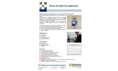 Eijkelkamp - Model 08.68 - Shear Strenght Test Apparatus - Brochure