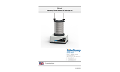 Vibratory Sieve Shaker AS 200 Digit CA - Manual