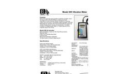 Model 205 - Vibration Meters Brochure