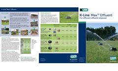 K-Line Max 70 Effluent Brochure