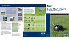 K-Line Max 80 Effluent Brochure