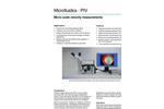 MicroPIV System - Velocity Measurements Brochure