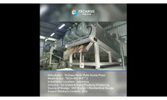 [Case Study] Techase Multi Plate Screw Press Food Production Sludge Dewatering