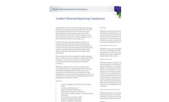 Conflict Minerals Reporting Compliance Services Brochure