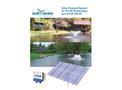 Scott Aerator - Solar Powered System for 3/4 HP Boilermaker and 3/4 HP DA-20 - Manual