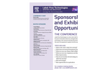 Sponsorship and Exhibition Opportunities Brochure