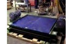 Cleveland Vibrator Low Profile Vibratory Table Test Video