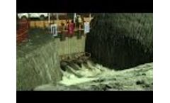 The new Panama Canal from the Atlantic than test-flood Video
