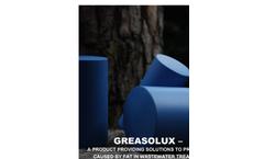 Model Greasolux-M/L - Fat Dissolvent Cartridges - Brochure