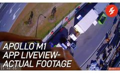LiveView Tower Crane Operation Footages from Scarlet Apollo M1 Wireless Crane Cameras - Video