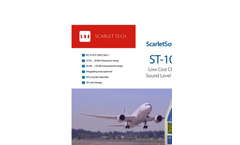 ScarletSound - Model ST-109 - Low Cost Class 1 Sound Level Meter - Brochure