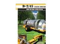 Air-O-Fan - Model D-2/45 - 1,000 Gallon Engine-Driven Sprayer - Brochure