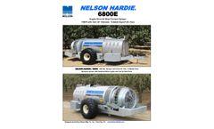 Nelson Hardie - Model 6800E - Engine Drive Air Blast Orchard Sprayer - Datasheet