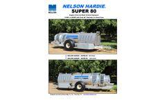 Nelson Hardie - Model Super 80 - Engine Drive Air Blast Orchard Sprayers - Datasheet