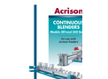 Model 350 Series - Dissimilar Speed Double Concentric Auger Blenders Brochure