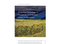 Using New Technology to  Prevent Weather-Related  Losses in Agriculture Brochure